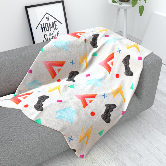 Blanket - Gamers Play Grey - printonitshop