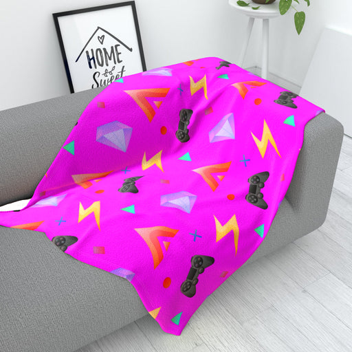 Blanket - Gamers Play Pink - printonitshop