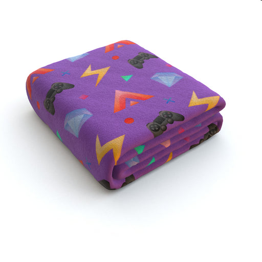Blanket - Gamers Play Light Purple - printonitshop