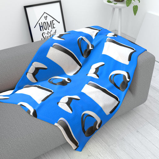 Blanket - PS New Gaming Light Blue - printonitshop