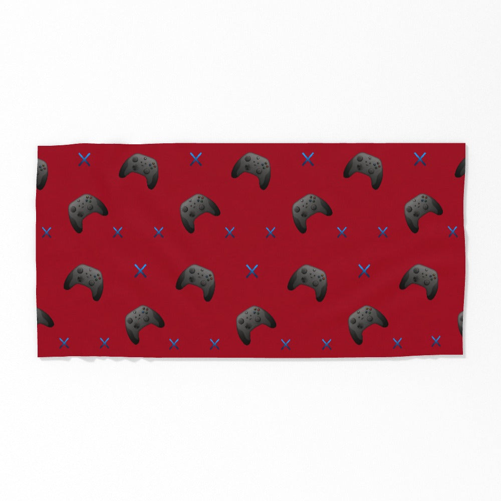 Towel - X Boxing 2 Red, Linens & Bedding by Print On It