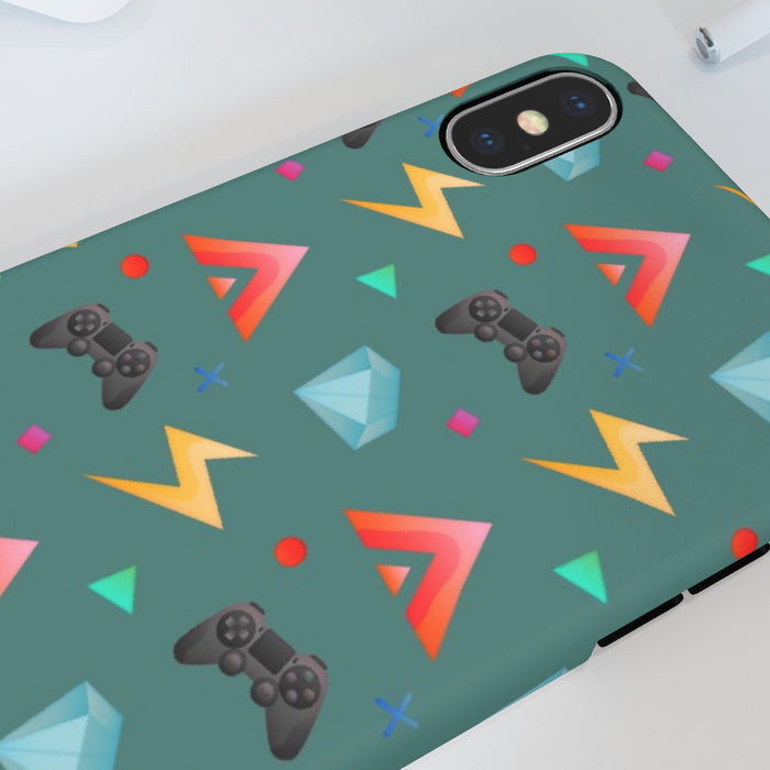 iPhone Cases - Gamers Play Green - printonitshop