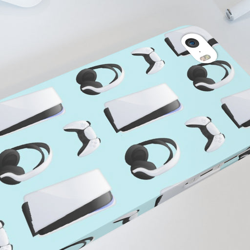 iPhone Cases - PS5 Light Blue - printonitshop