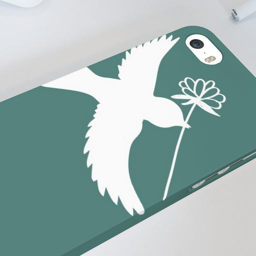 iPhone Cases - Dove on Green - printonitshop