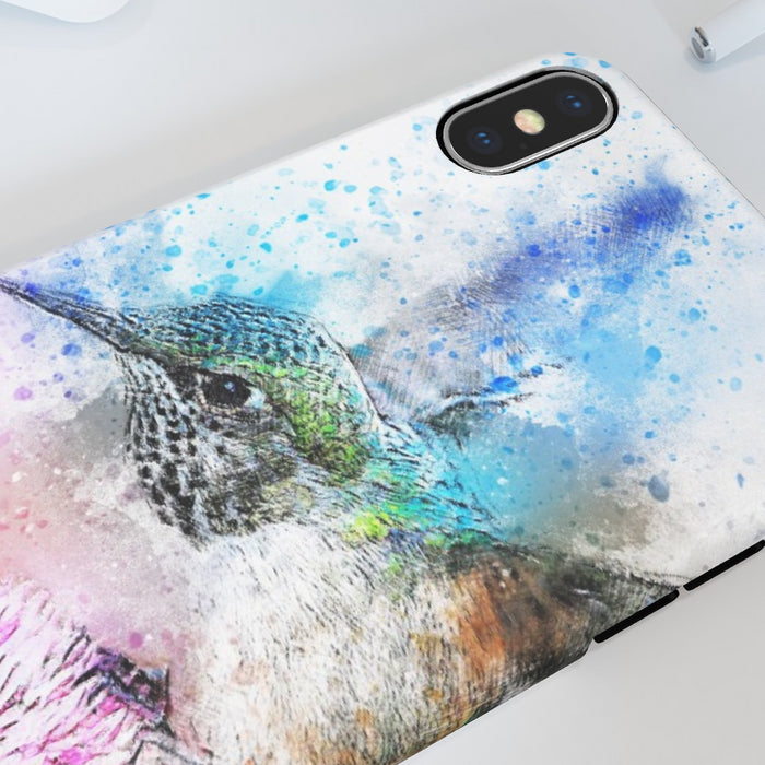 iPhone Cases - Watercolour Hummingbird - printonitshop