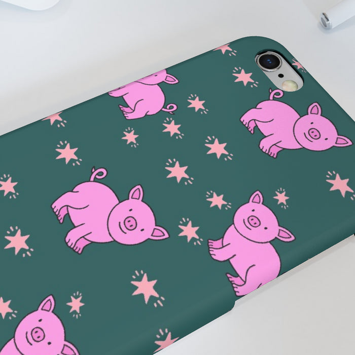 iPhone Cases - Pigs on Green - printonitshop