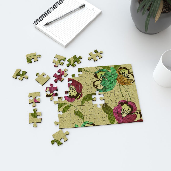 Jigsaw - Dot Work Flowers - printonitshop