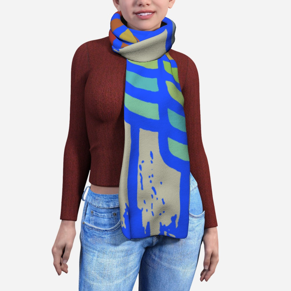 Blanket Scarf - Among Us Blue by  Print On It