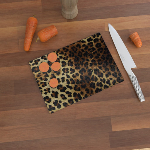 Glass Chopping Boards - Leopard - printonitshop