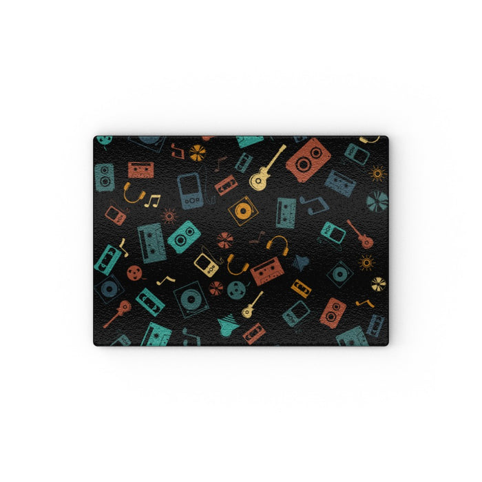 Glass Chopping Boards - Retro Music - printonitshop