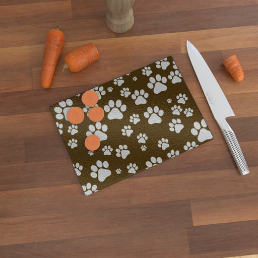 Glass Chopping Boards - Paws - printonitshop
