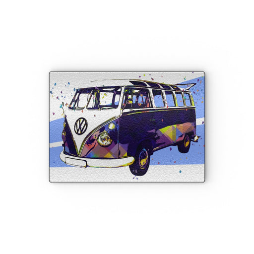 Glass Chopping Board - Classic Camper - printonitshop