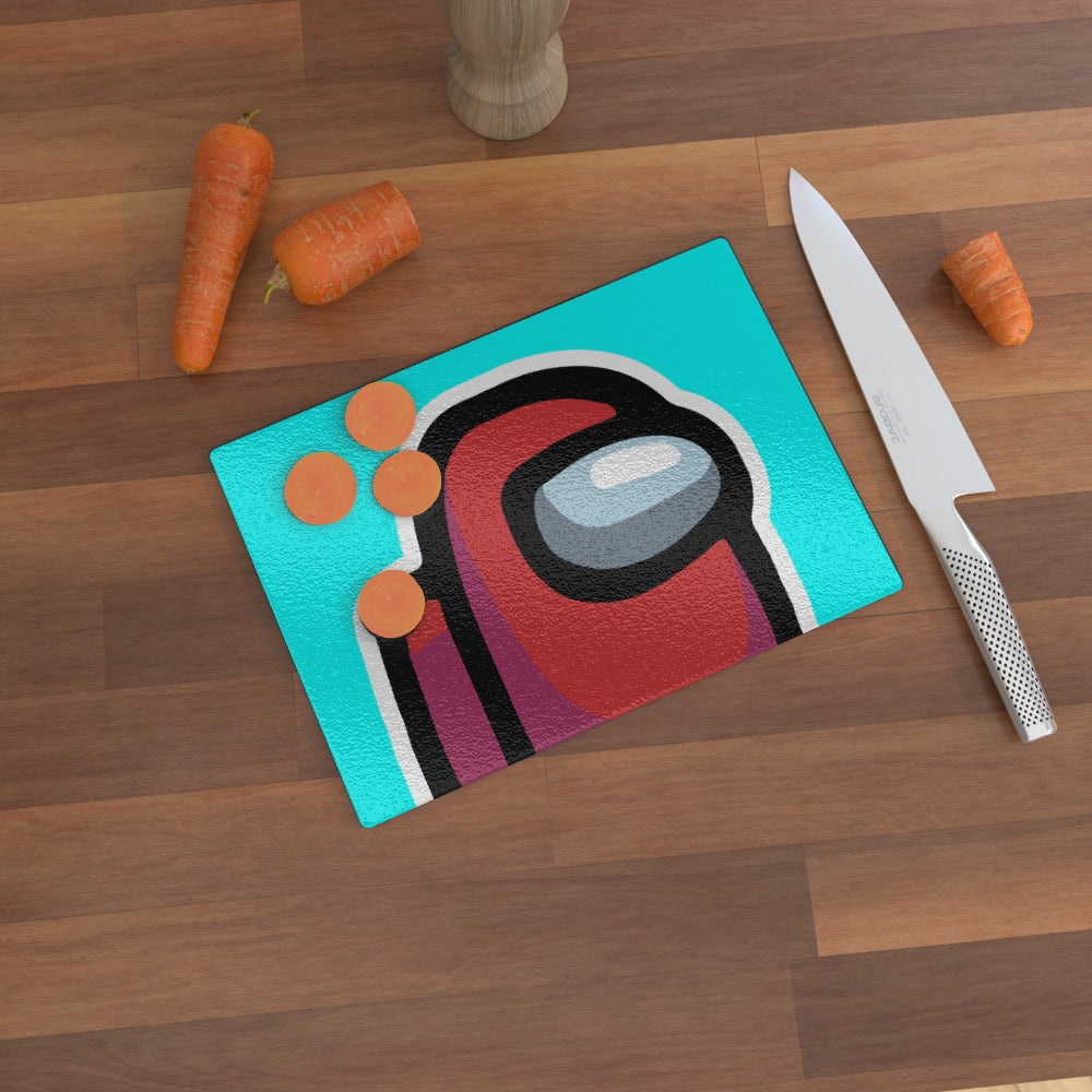 Glass Chopping Board - Among Us by  Print On It