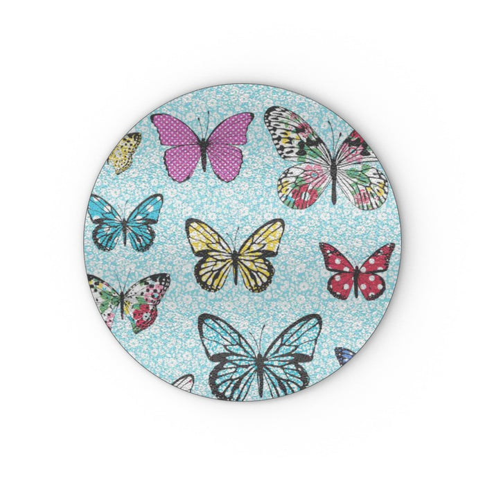 Glass Chopping Board - Floral Butterflies - printonitshop