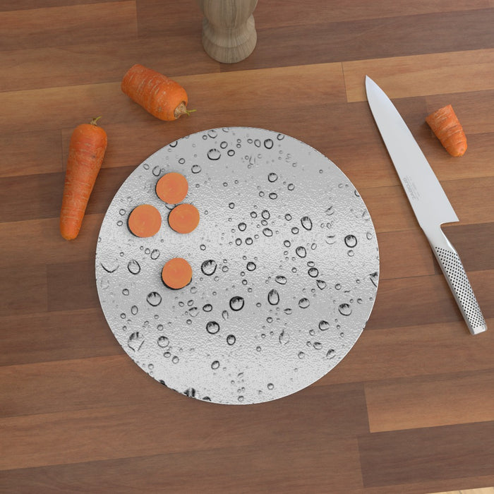 Glass Chopping Board - Droplets - printonitshop