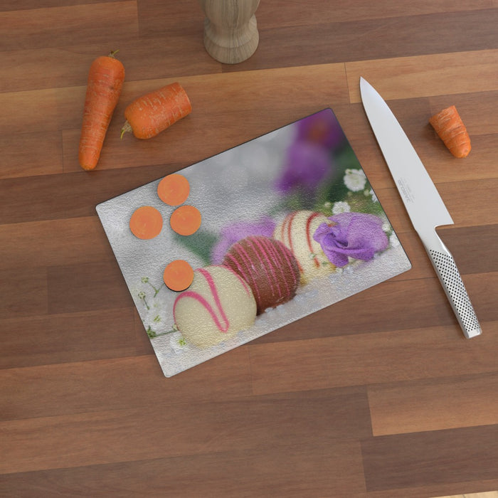 Glass Chopping Board - Luxury Chocolate 2 - printonitshop