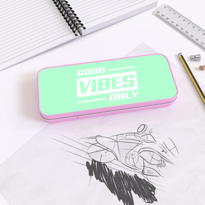 Pencil Tins - Good Vibes Only - printonitshop
