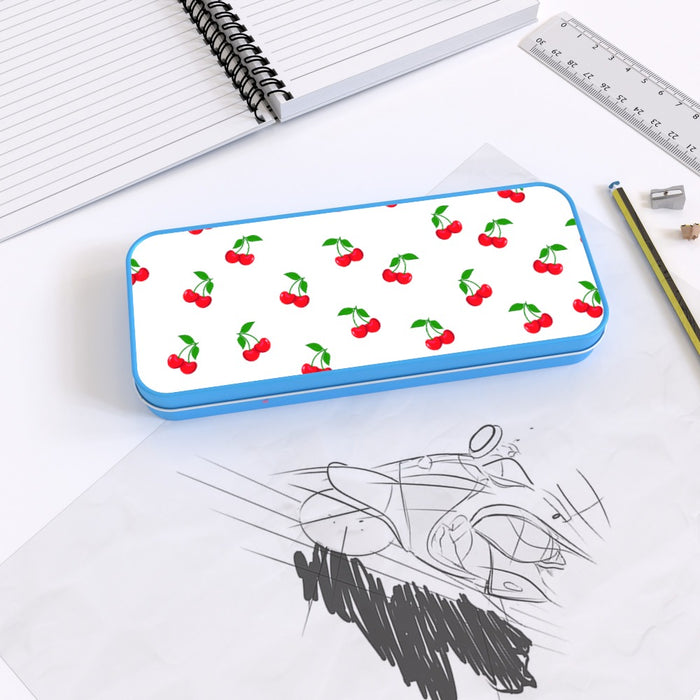 Pencil Tins - White Cherries - printonitshop