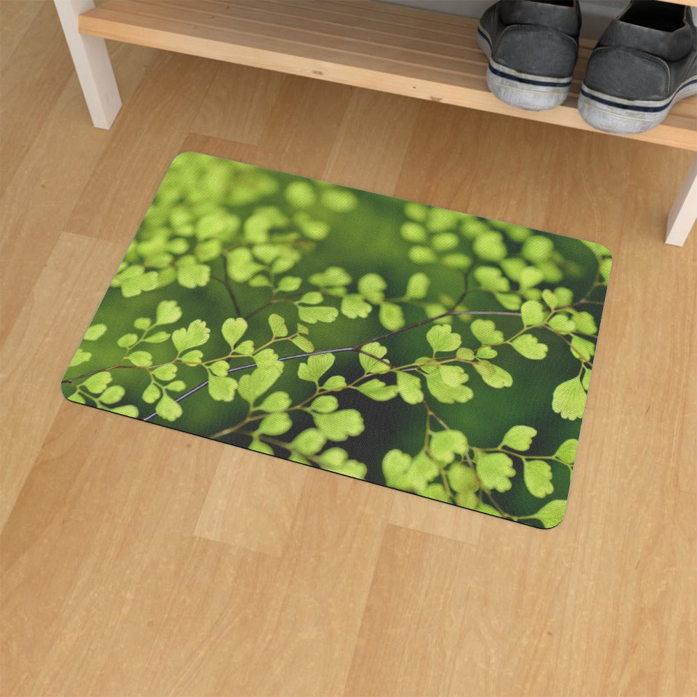 Floor Mats - Delicate Leaves by  Print On It