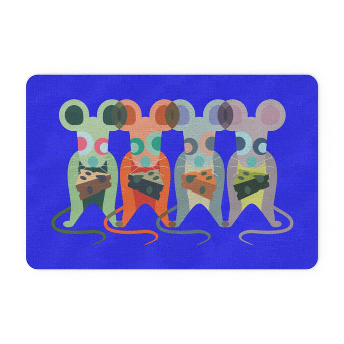 Floor Mats - Mice on Blue - printonitshop