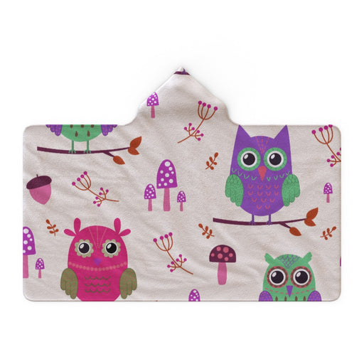 Hooded Blanket - Owl Friends - printonitshop