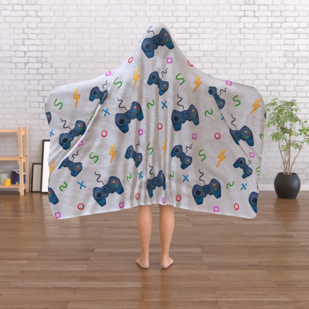 Hooded Blanket - Pale Grey Gaming, Linens & Bedding by Print On It