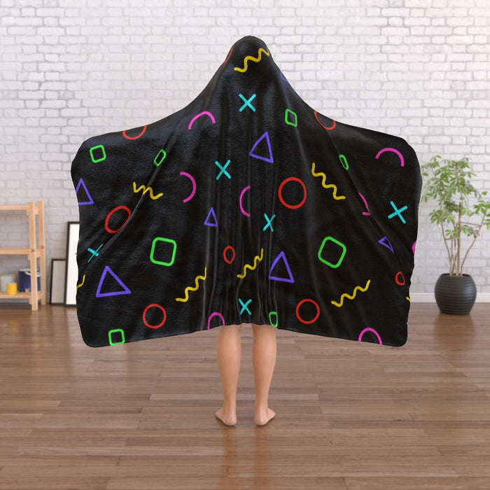 Hooded Blanket - Memphis Gamer - printonitshop