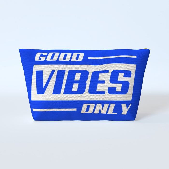 Cosmetic Bag - Good Vibes Only Blue - printonitshop