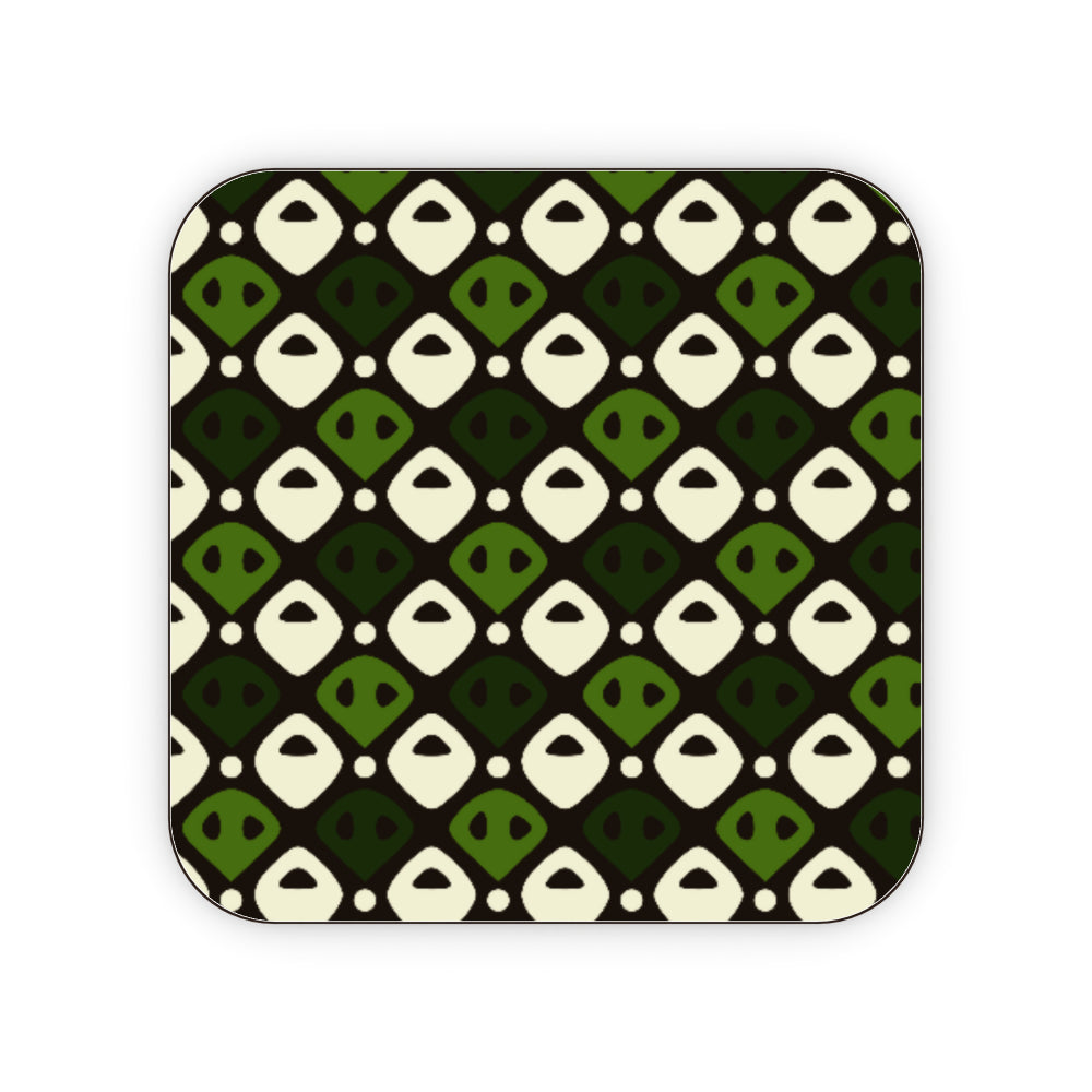 Coasters - Abstract Green, Kitchen & Dining by Print On It