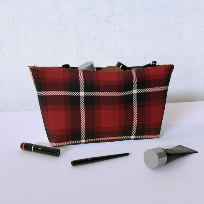 Cosmetic Bag - Textured Fabric Red - printonitshop