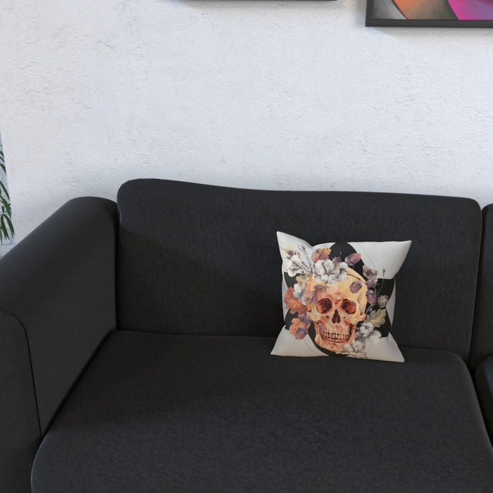 Cushion - Skull With Flowers - printonitshop