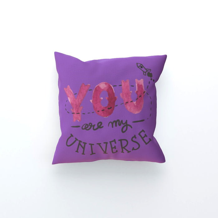 Cushion - You are my universe - Purple - printonitshop
