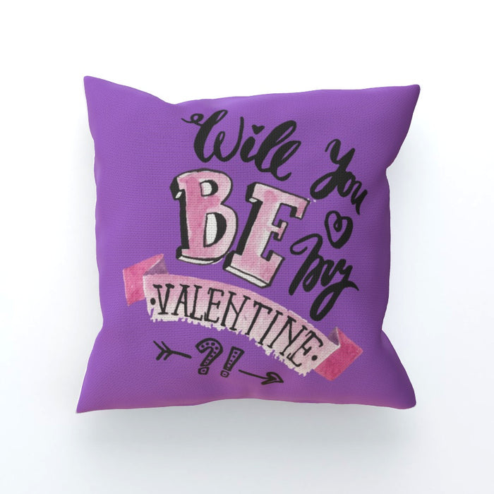 Cushion - Will You Be My Valentine - Purple - printonitshop