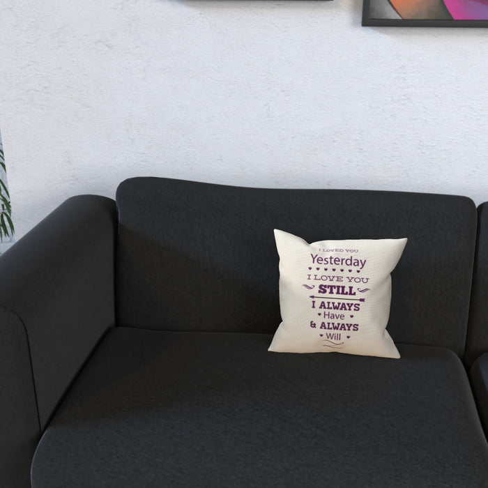 Cushion - I Love You Still - Cream - printonitshop