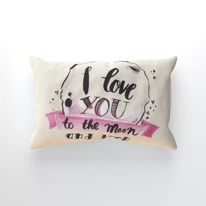 Cushion - I Love You To The Moon - Cream - printonitshop