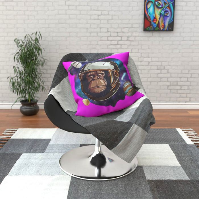 Cushion - Space Chimp Pink - printonitshop