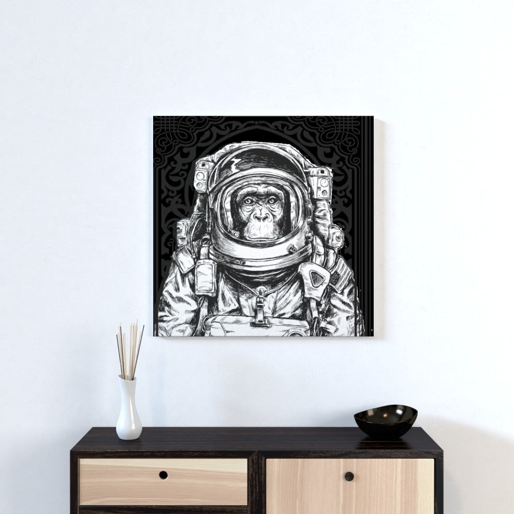 Wall Canvas - Space Monkey, Textiles by Print On It