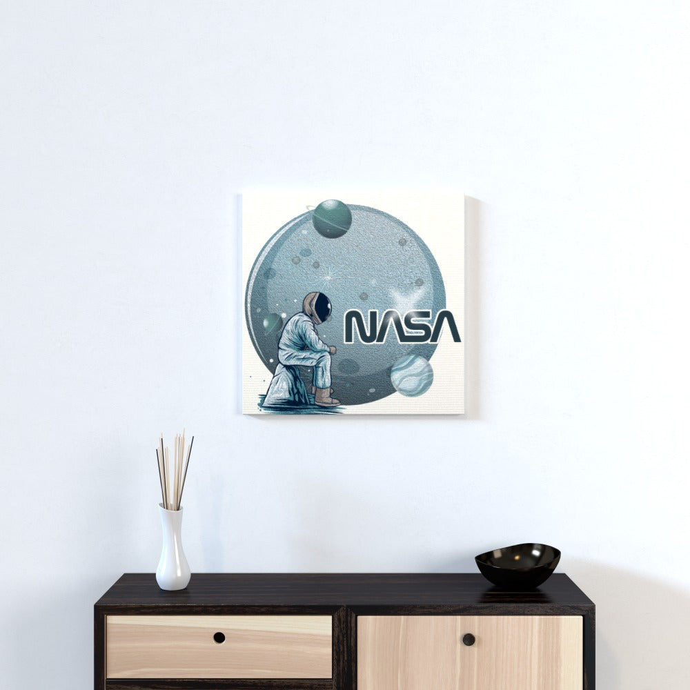 Wall Canvas - Lonely Astronaut by  Print On It