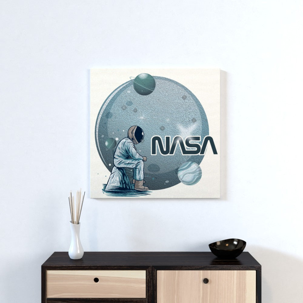 Wall Canvas - Lonely Astronaut, Textiles by Print On It