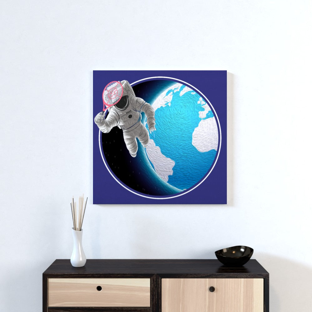 Wall Canvas - Racket Spaceman, Textiles by Print On It