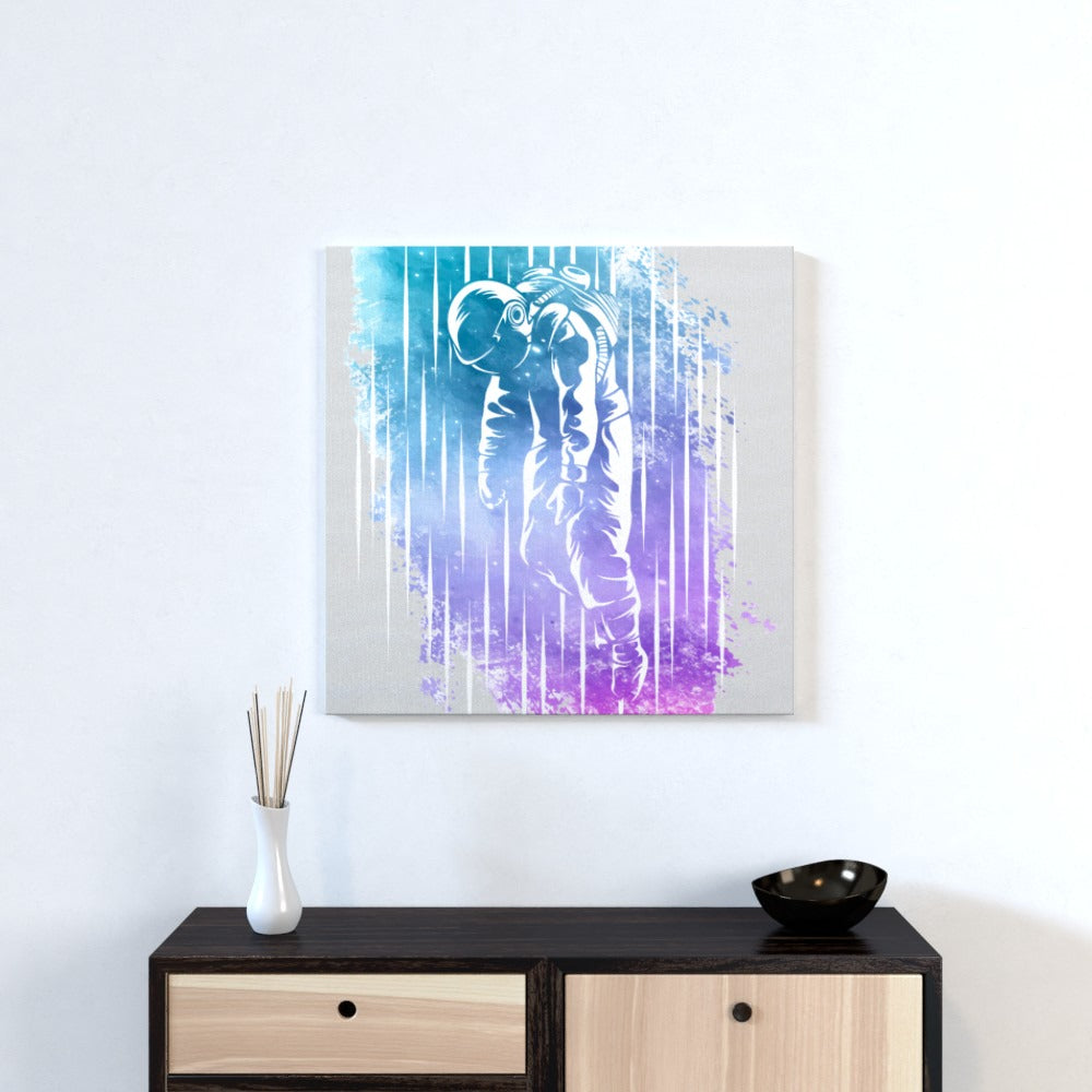 Wall Canvas - Beam Me Up, Textiles by Print On It