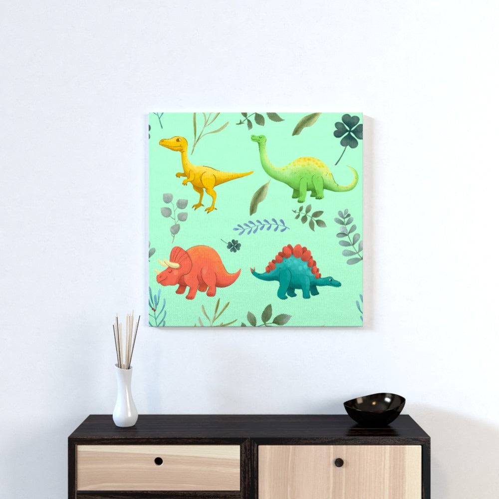 Wall Canvas - Dino Light, Textiles by Print On It
