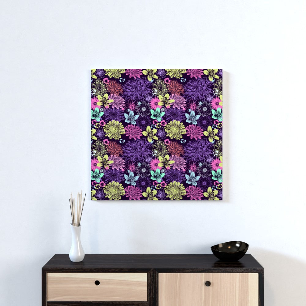 Wall Canvas - Flowers, Textiles by Print On It