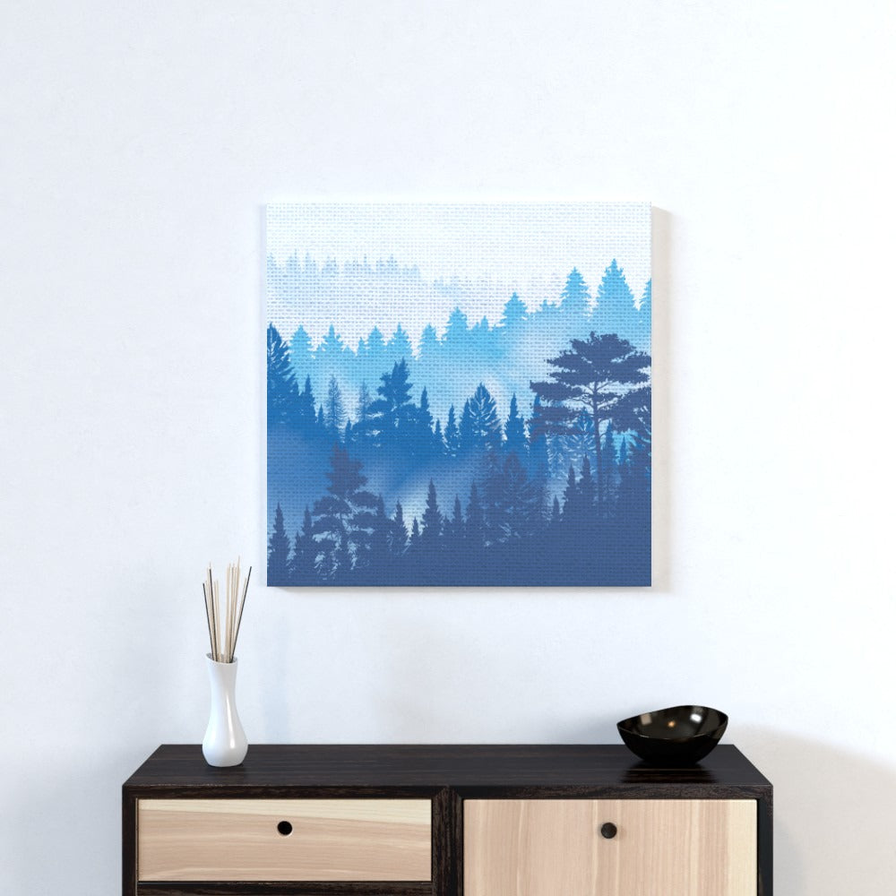 Wall Canvas - Forrest Blue, Textiles by Print On It