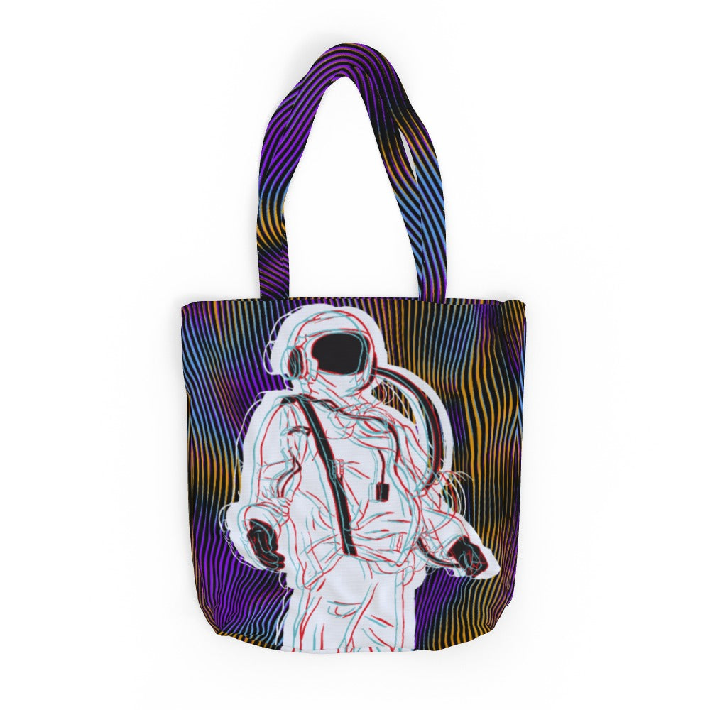 Tote Bag - Trippy Spaceman, Luggage & Bags by Print On It