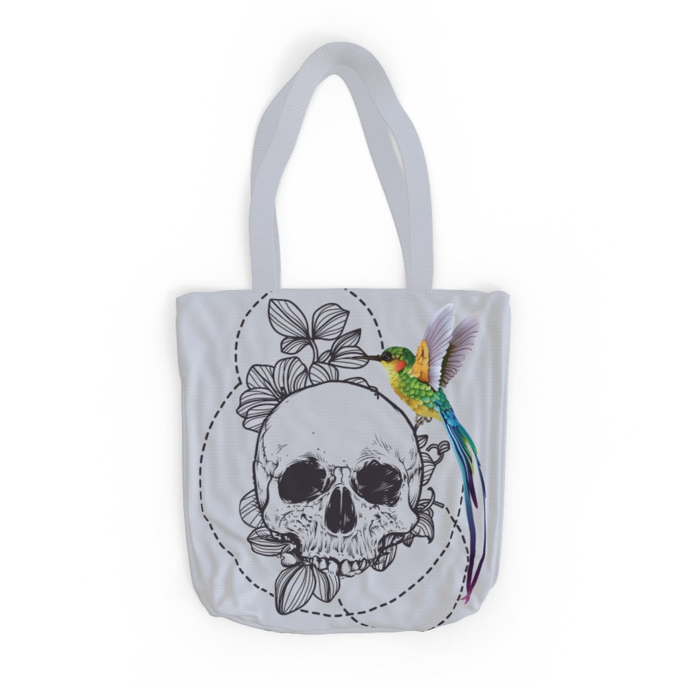 Tote Bag - The Skull and The Hummingbird, Luggage & Bags by Print On It