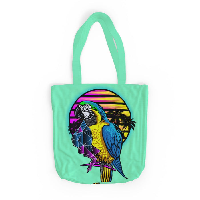 Tote Bag - Colourful Parrot - Green Zest - printonitshop