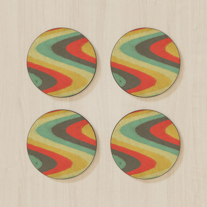Coasters - Textured Retro - printonitshop