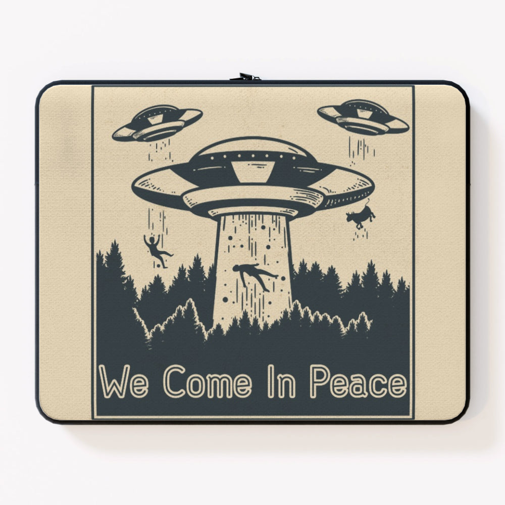 Laptop Skin - We Come in Peace by  Print On It