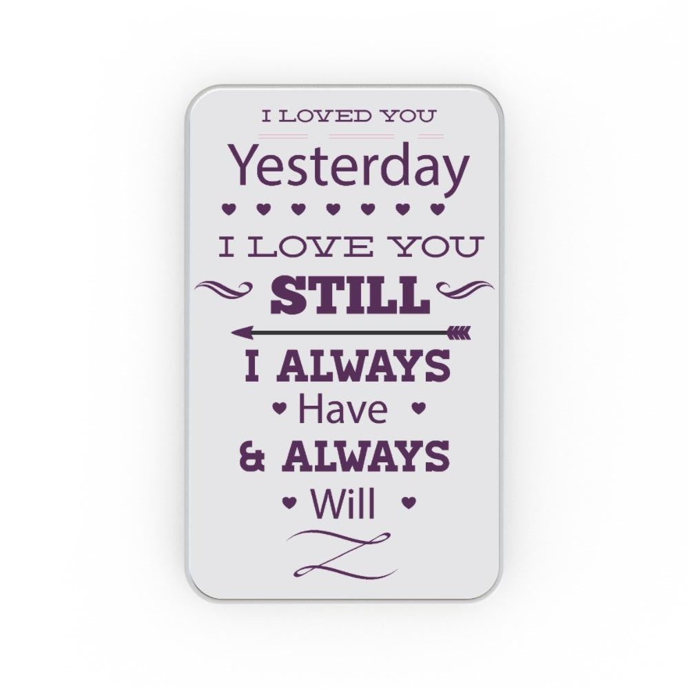 Metal Tins - I Love You Still, Gift Wrapping by Print On It